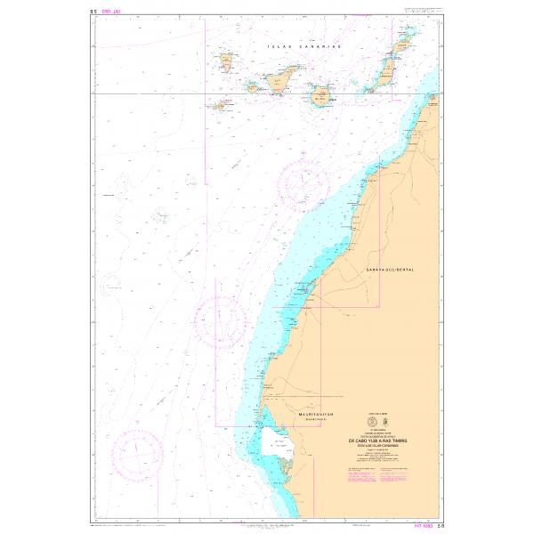 Carta 5B (INT 1083): De Cabo Yubi a...