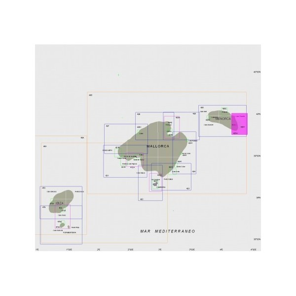 Carta 426A: Aproches al puerto de Mahon