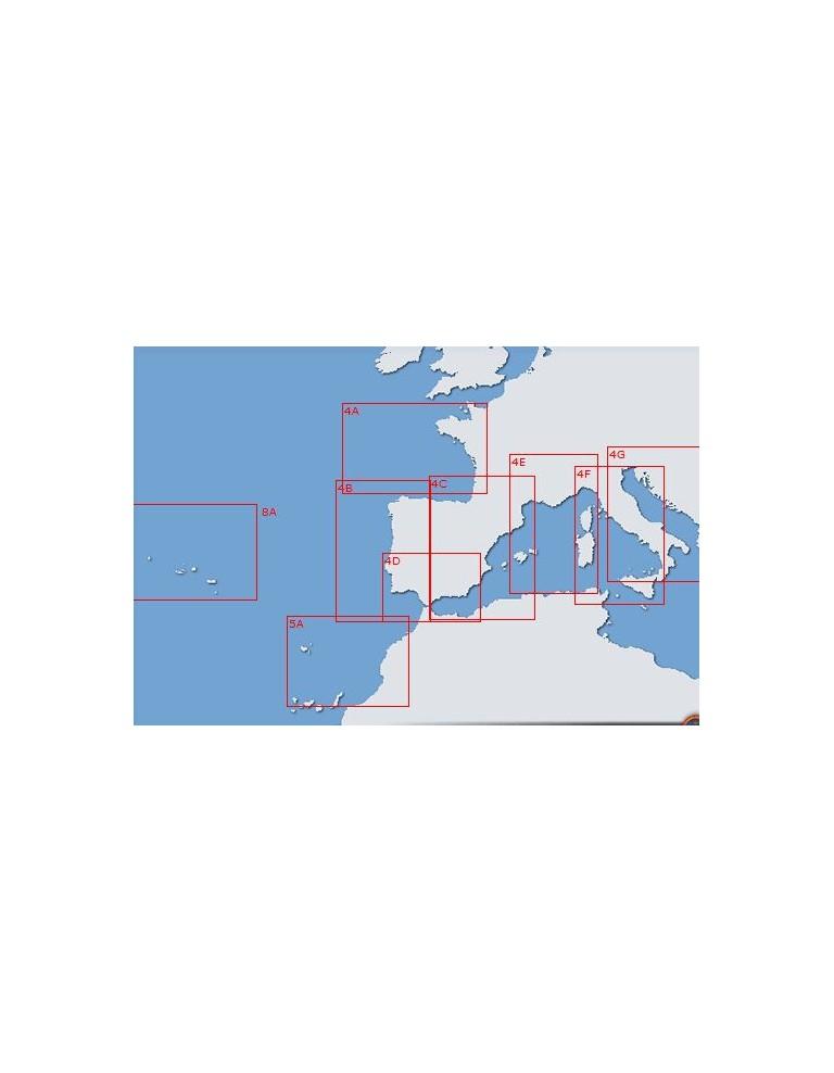Carta 31A (INT 103): Del canal de la Mancha al estrecho de Gibraltar y Archipielago de las Azores