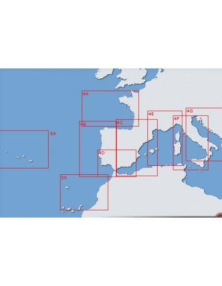 Carta 6 (INT 103): Del canal de la Mancha al estrecho de Gibraltar y Archipielago de las Azores