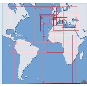 Carta 601: Costa occidental de la isla de Lanzarote y costa norte de la isla de Fuerteventura.