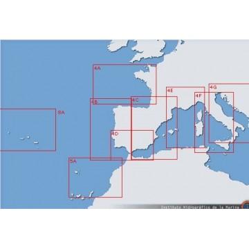 Carta 600A: Pasos entre las islas Alegranza, Montaña Clara, La Graciosa y Lanzarote.