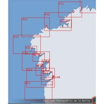 Carta 416 A: Ria de Pontevedra