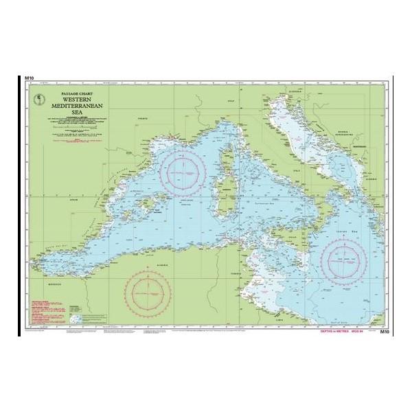 Carta Imray M10 Western Mediterranean