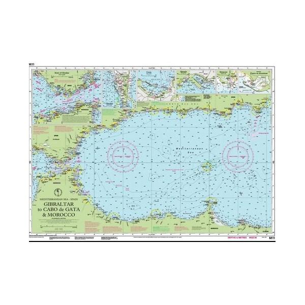 Carta Imray M11 Gibraltar to Cabo de...