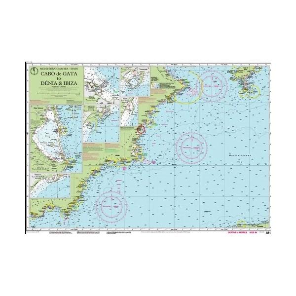 Carta Imray M12 Cabo de Gata to Dénia...