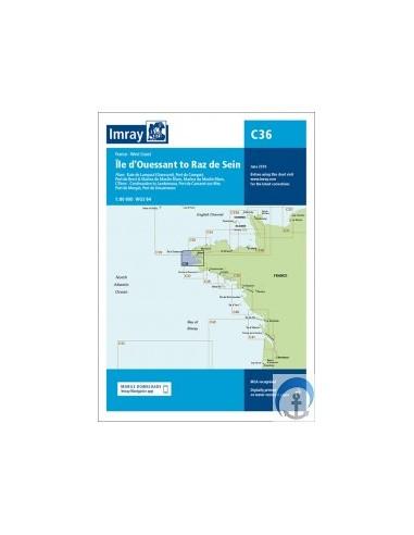 Carta Imray C36 Île d'Ouessant to Raz...