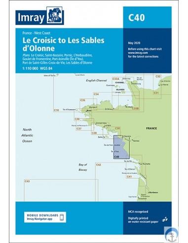 Carta Imray C40 Le Croisic to Les...