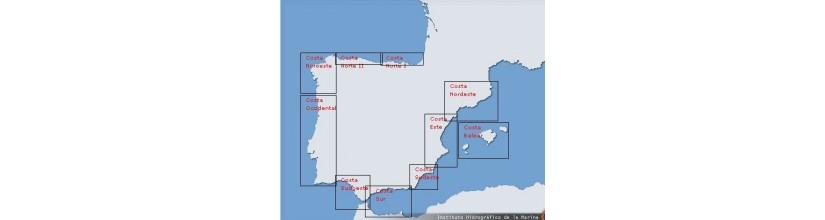 Península Ibérica, Islas Canarias y Baleares